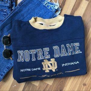 Vintage Norte Dame Crew Neck Sweatshirt  Size XL